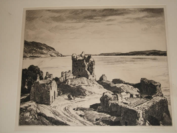 Castle with Figures