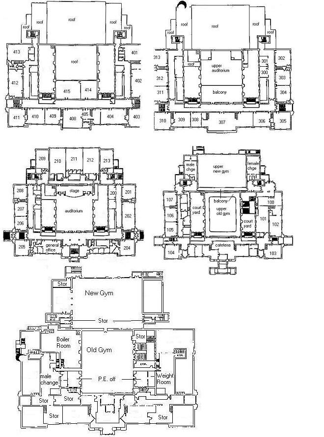 School Building Blueprints - Victoria High