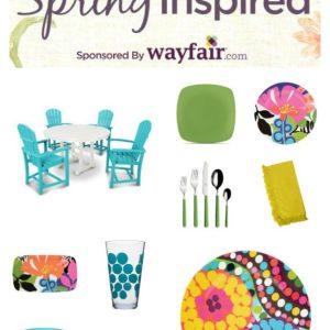 Spring Inspired Idea board for Wayfair