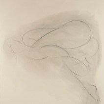 Nude Drawing, 72 x 72 inches, charcoal on raw canvas