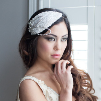 Celebration Beaded Bridal Cap no.6