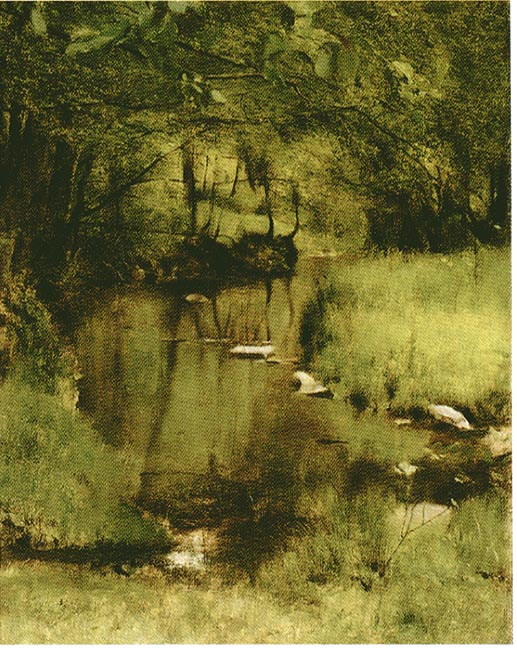 59 In Cm In Fosset, A Stream By Fernand Khnopff (1858-1921)