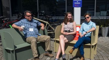 Relaxing in the sun outside Limbic Media at the GVPN's first Annual General Meeting.