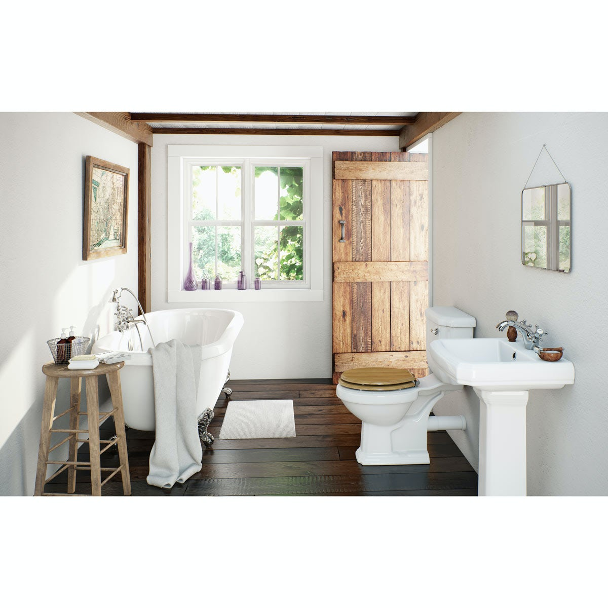 Bathroom Suites Cavendish Oak Bathroom Suite With Roll Top Bath Large