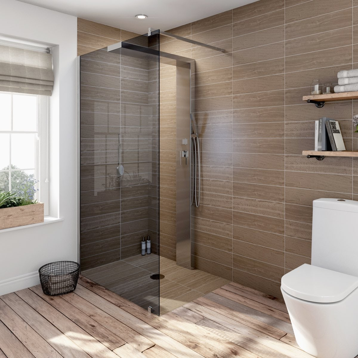 Spanner Badezimmer Complete Walk In Shower Enclosure System 1200 X 900