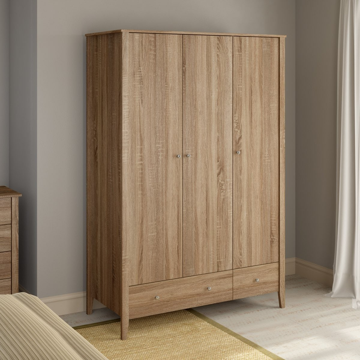 Wardrobes For Sale Sydney Sydney Oak 3 Door 2 Drawer Wardrobe Victoriaplum