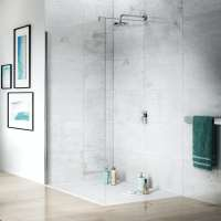 Jacuzzi the Essentials wetroom glass panel 1400mm ...
