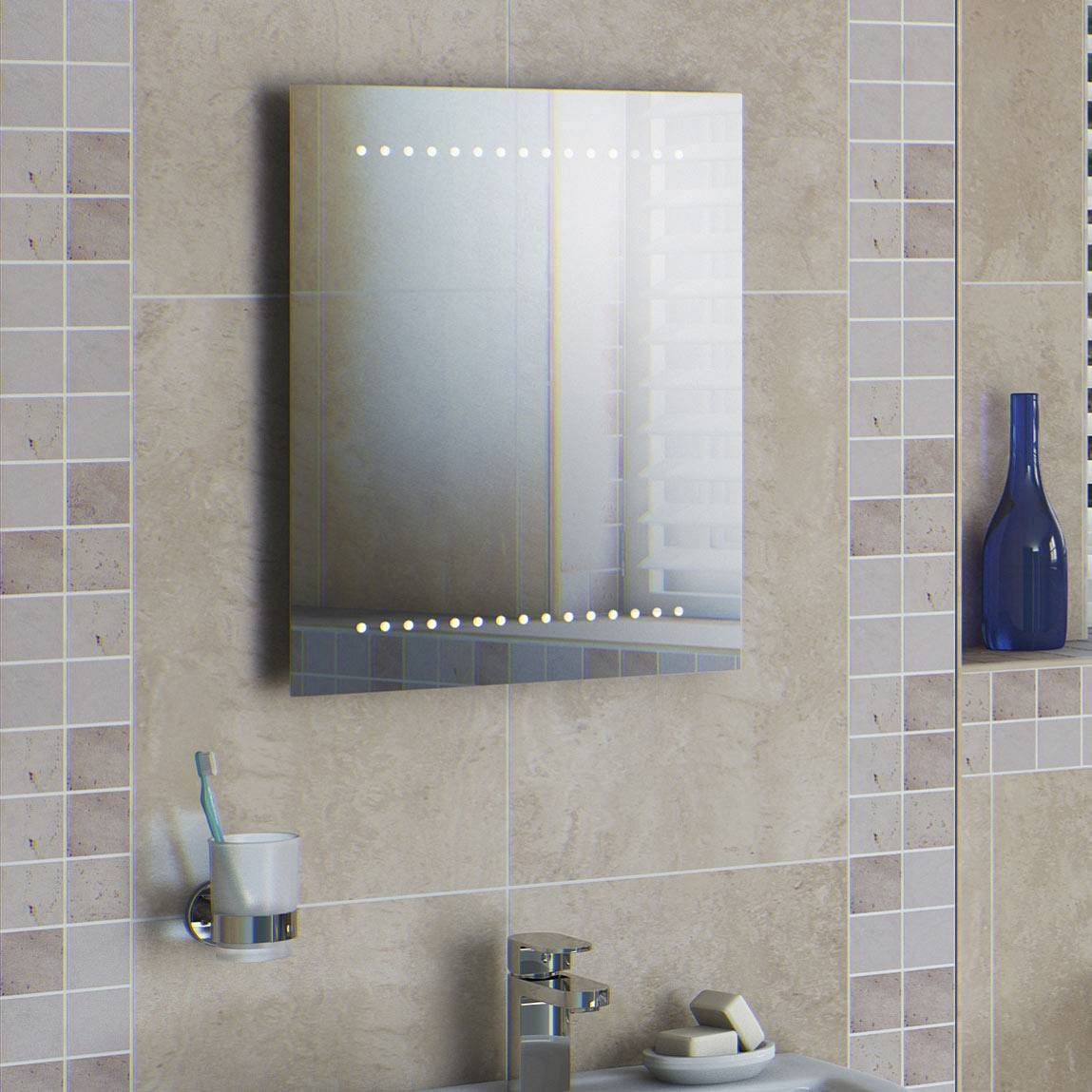 Led battery bathroom mirrors - Battery Bathroom Mirror Free Delivery Orion Led Battery Mirror Click To Zoom Download