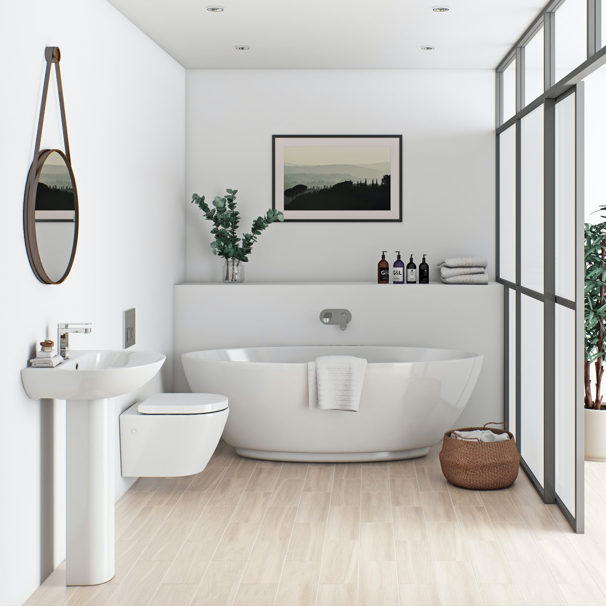 Bathroom Suites Mode Harrison Bathroom Suite With Freestanding Bath