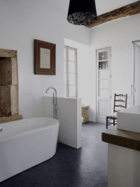 How to create a modern rustic style bathroom ...