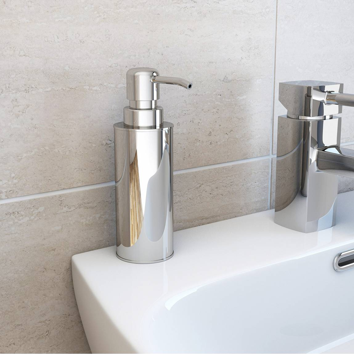Metal Soap Dispenser Pump Options Freestanding Slim Stainless Steel Soap Pump