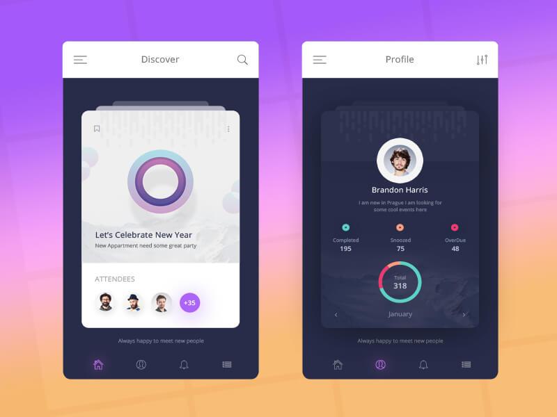 Mobile App UI design - VictorThemes