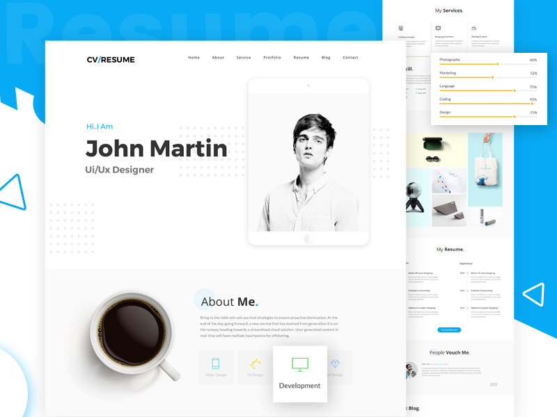 Website Template Archives - VictorThemes - resume website template