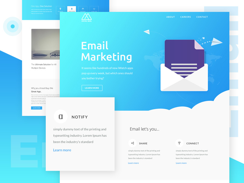 Email Newsletter Template - VictorThemes