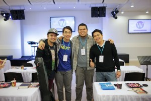 Filipino worship songwriters Yan Asuncion, Charles Bautista, Lee Brown, and Archie Castillo at #W3Manila.