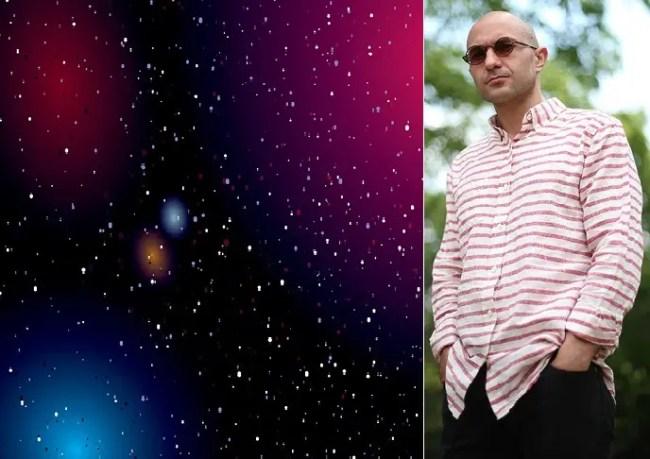 البروفسور ديسكونزي، والكون كما يراه زمن الجليد العظيم، وبعدها تدمره الطاقة المظلمة