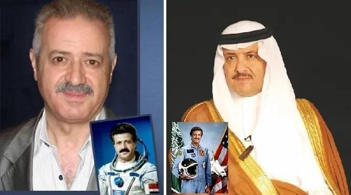 الأمير سلطان، ابن الملك سلمان، أول عربي ومسلم ارتاد الفضاء، وبعده بعامين السوري محمد فارس