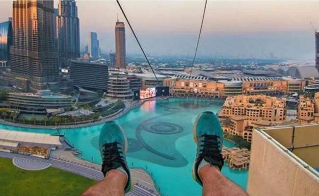 Feeling Adventurous Try A Zip Line Over The Dubai Fountain Al Arabiya English