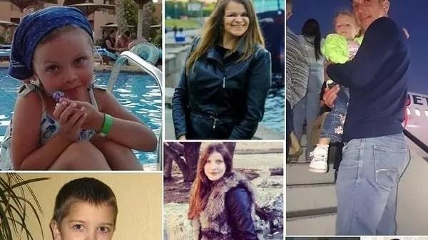 بعض الضحايا، بالغين وأطفالا، ممن لم يتم نشر أسمائهم بعد