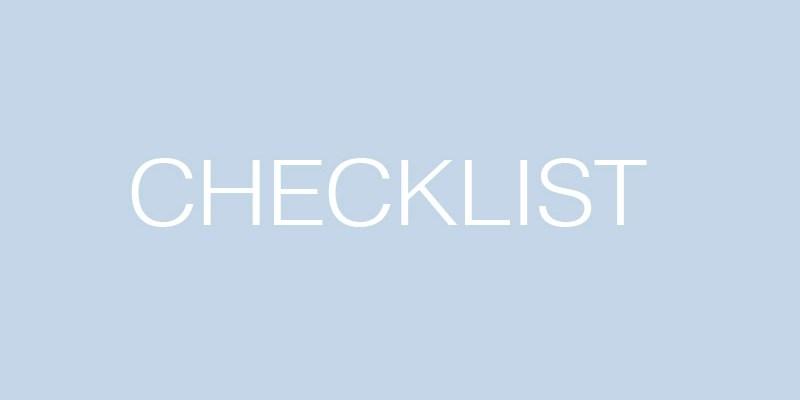 Checklist – Fevereiro 2016 – Coisas muito legais para fazer este mês