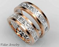 Princess Cut Diamond Matching Wedding Ring Set | Vidar ...