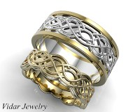 Unique Celtic Matching Wedding Ring Set | Vidar Jewelry ...