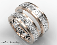 His And Her Diamond Matching Ring | Vidar Jewelry - Unique ...