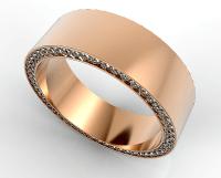 Rose Gold Morganite Mens Wedding Band | Vidar Jewelry ...