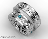Unique Matching Wedding Bands His And Hers | www.pixshark ...