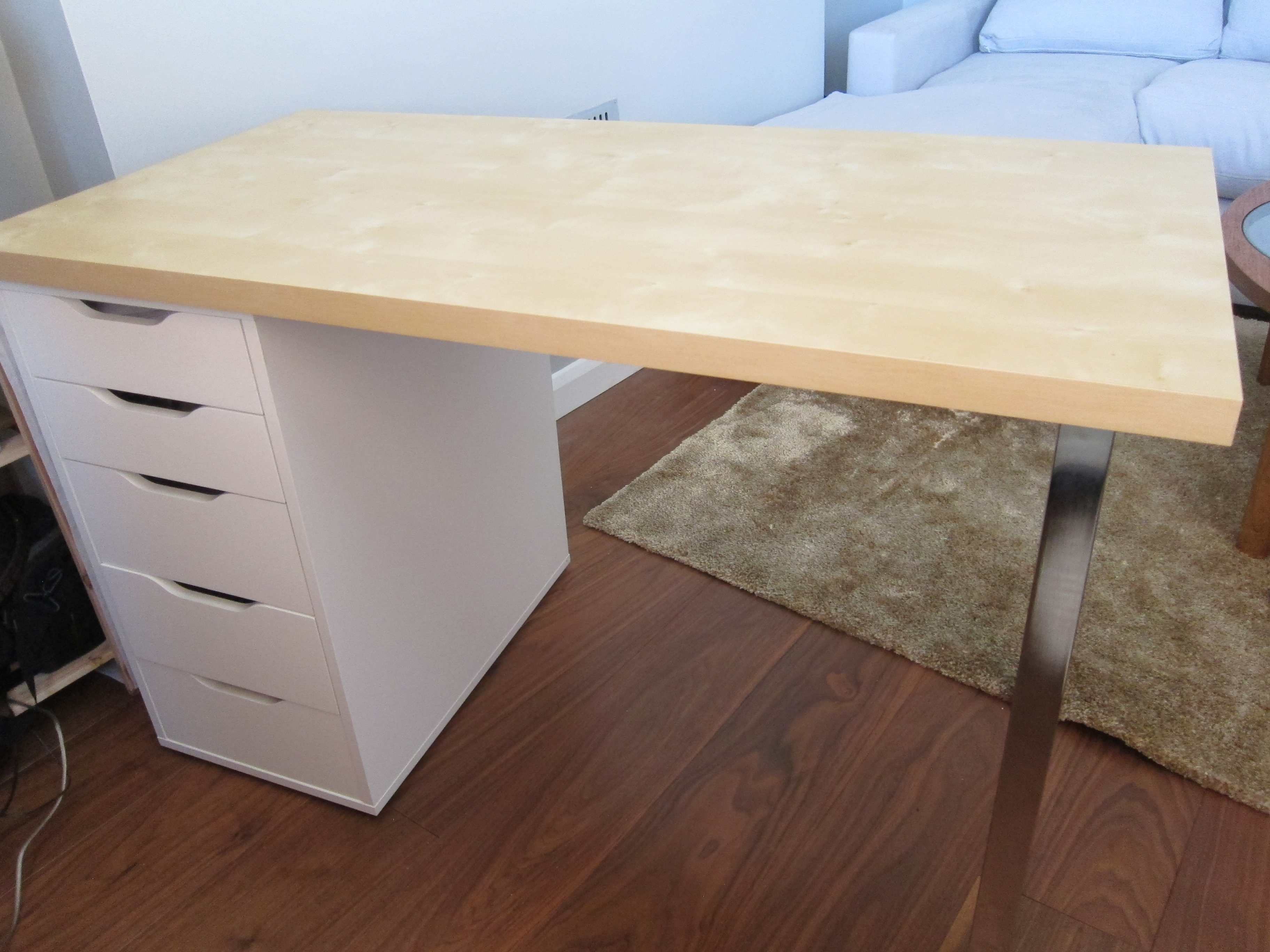 Bureau ikea linmon bureau ikea linnmon ≥ ikea linnmon bureau met
