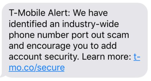 T-Mobile Is Sending a Mass Text Warning of \u0027Industry-Wide\u0027 Phone