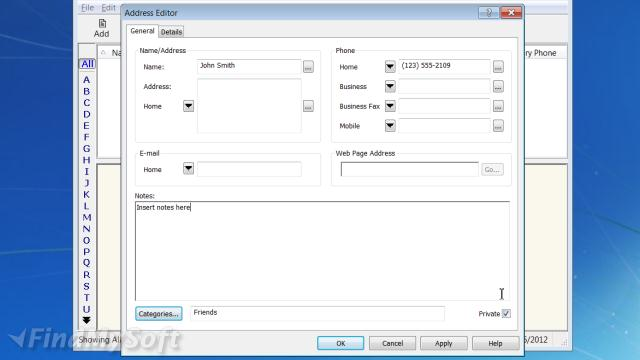 Download Handy Address Book Free - software for address book
