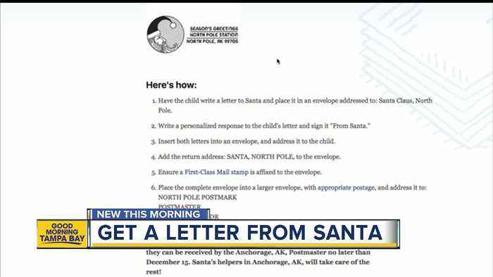 How your child can get a letter from Santa - One News Page VIDEO