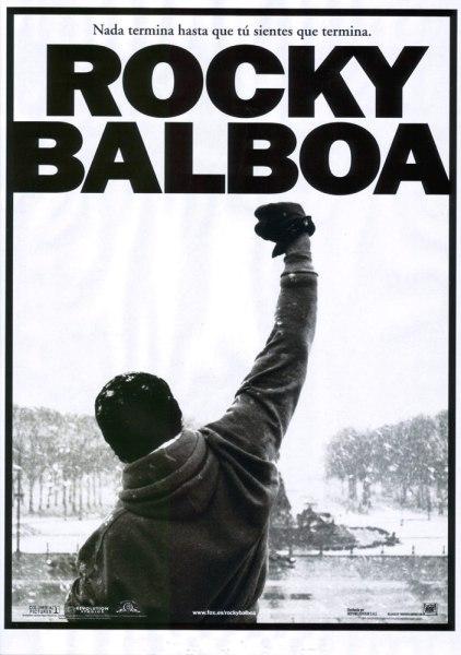 Carte de Rocky Balboa la última entrega de la saga protagonizada por el mítico boxeador que interpreta Sylvester Stallone.