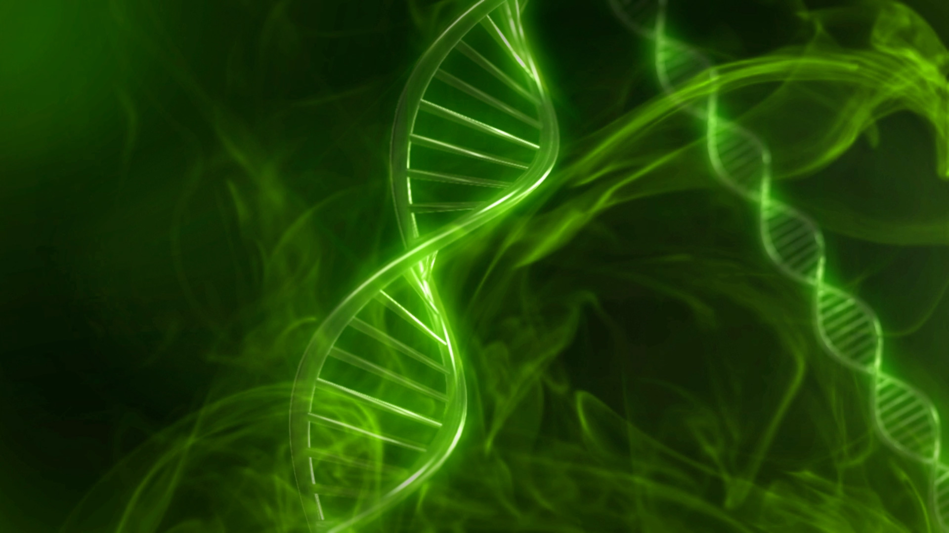 Adn 3d Wallpaper Green Dna Code With Genetic Background In Slow Motion 3d