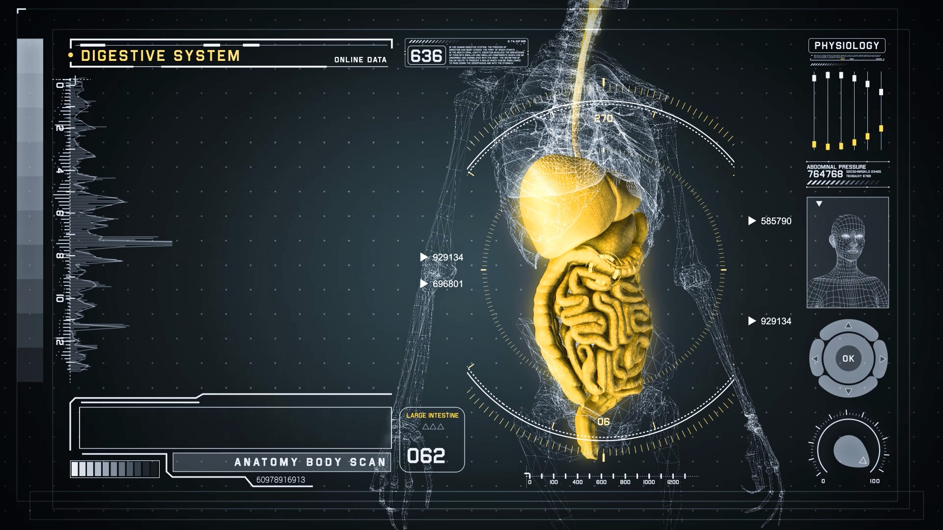 3d Hologram Wallpaper App Futuristic Interface Display Of Human Body Scan With