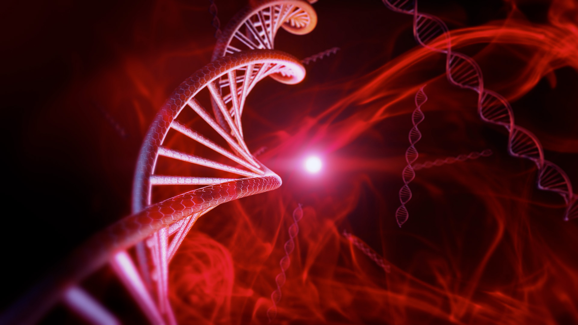 3d Effect Wallpapers Free Download Red Dna Code With Genetic Background In Slow Motion 3d