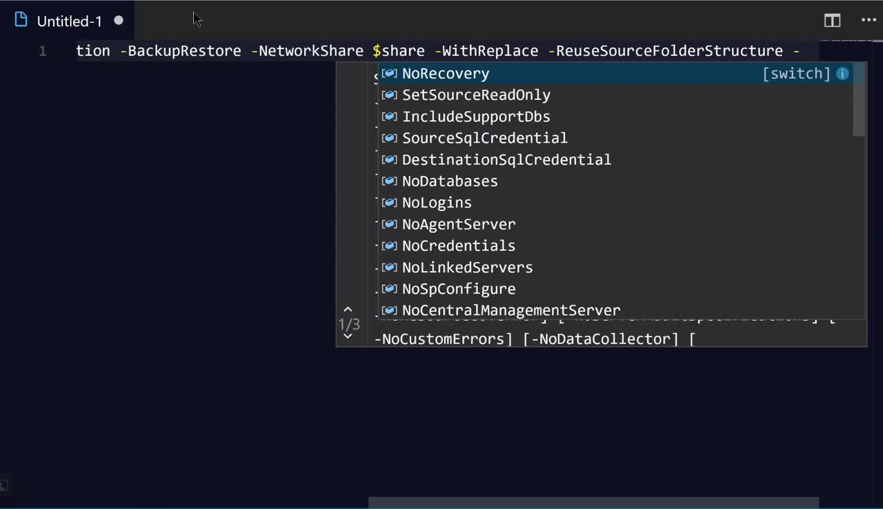 Vs Code Select Line Shortcut Easily Splatting Powershell With Vs Code Sql Dba With A Beard