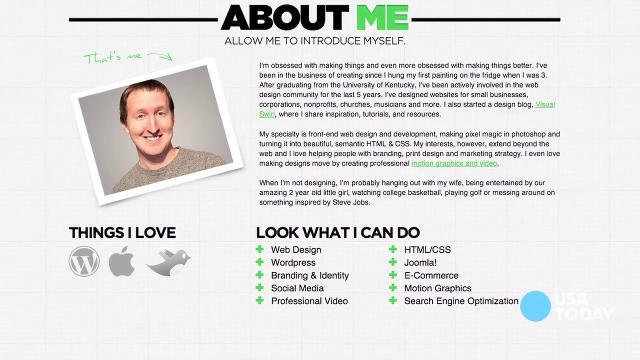 TECH NOW What to put on your personal website - personal resume website example