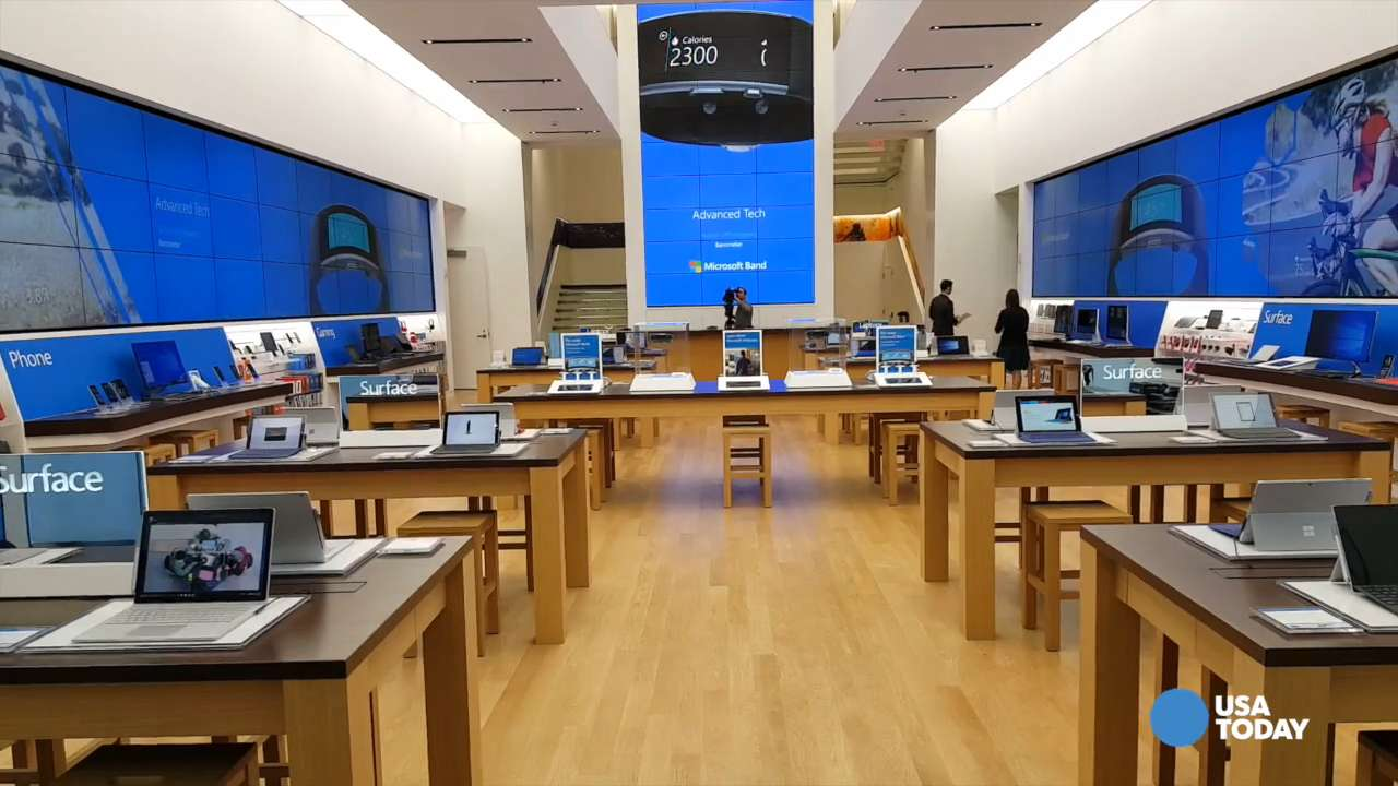 Microsoft Products Take A Tour Of Microsoft S New Flagship Fifth Avenue Store