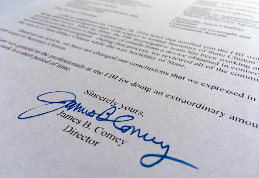 Read the full text of James Comey\u0027s letter on the new Clinton emails