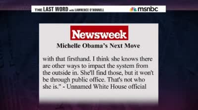msnbc tv  Michelle Obama for Senate