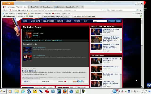 Comedy Central –  The Colbert Report – Stephen Colbert 01-03-12