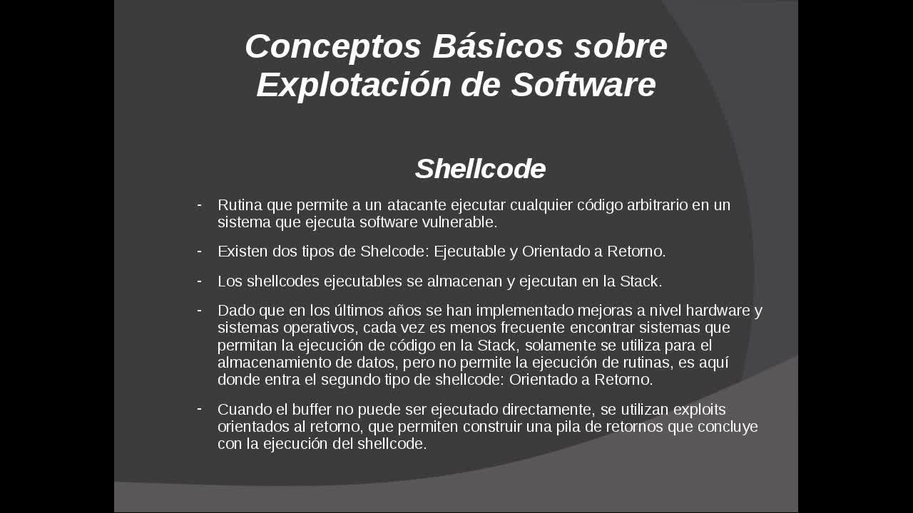 Explotación de Software Parte 28 – Conceptos Básicos sobre ShellCoding