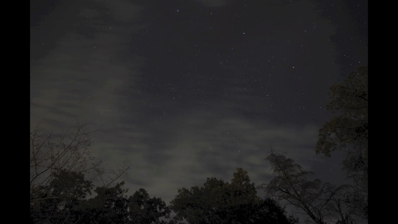 A Cloudy Night Sky – 1080p