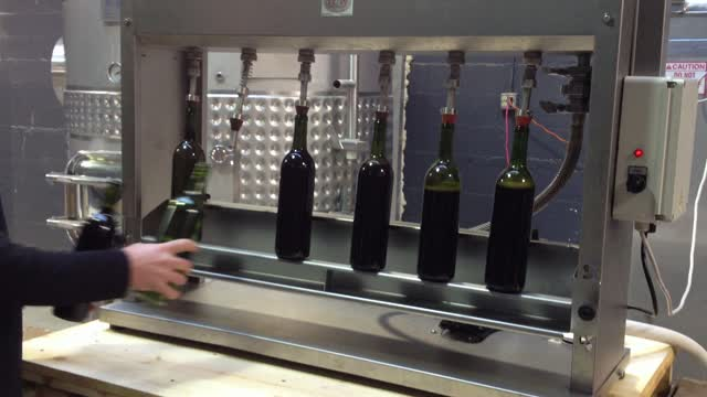 Bottling and corking the Zinfandel