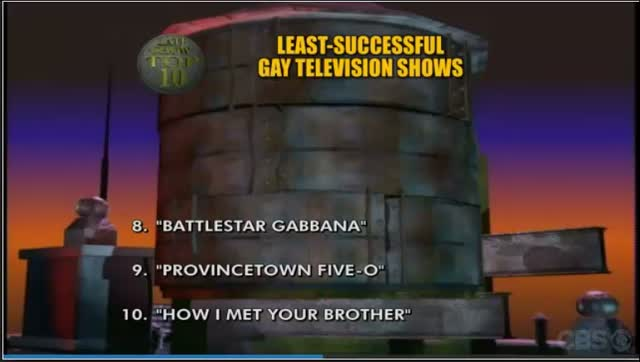 LATE SHOW – TOP 10 LEAST SUCCESSFUL GAY TV SHOWS