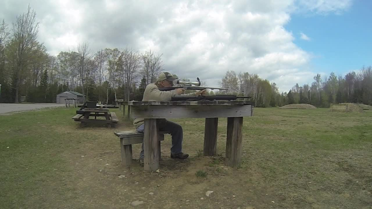 Dad Shooting the Muzzleloader in Slo Mo