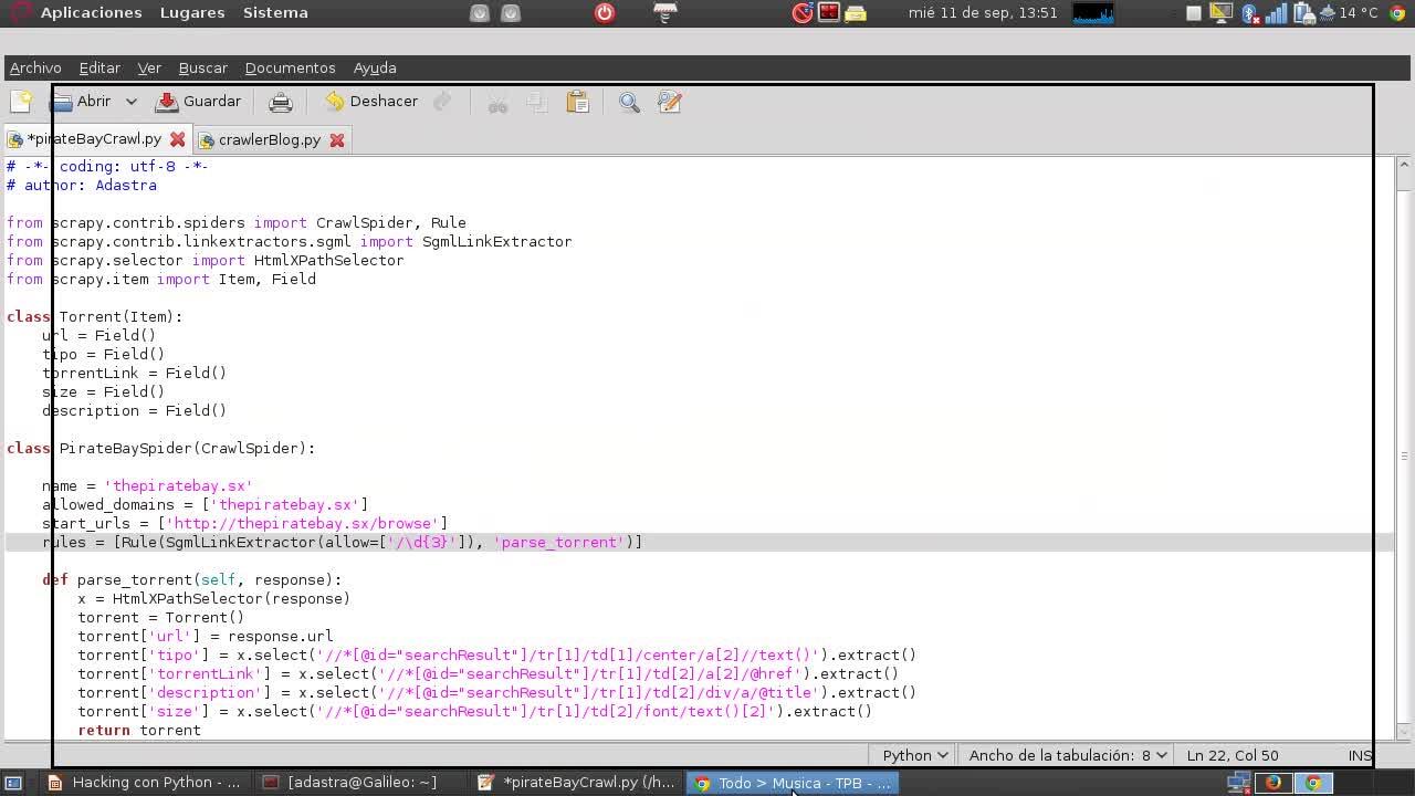 Hacking con Python Parte 9 – Web Crawling con Scrapy