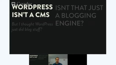 Aaron Holbrook: WordPress Is A CMS Dammit!